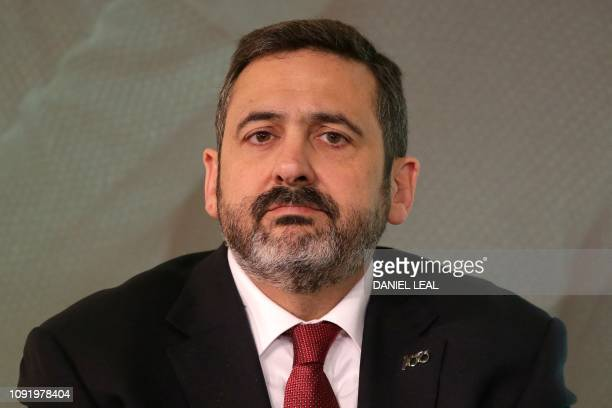 British Airways CEO Alex Cruz attends a press conference in London on February 1 with the chief executives of the airlines that form Oneworld...