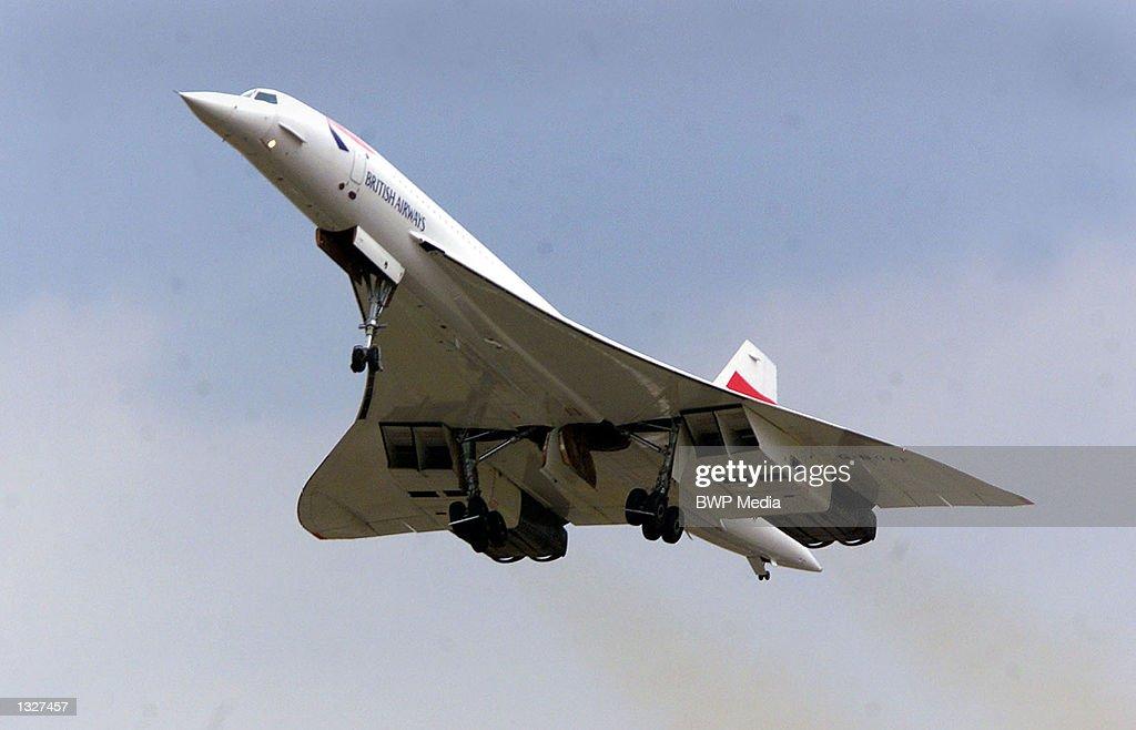 First Concorde Flight for Twelve Months : News Photo