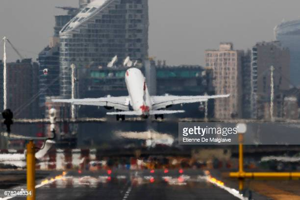 British Airways Embraer ERJ 190 takes off from the London City Airport LCY on April 20 2017 in London England