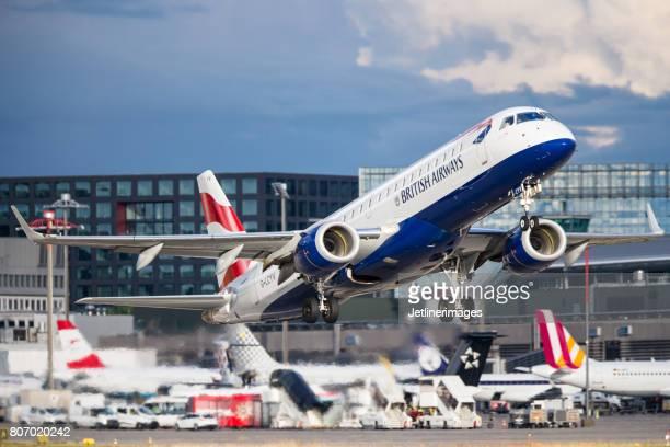 british airways embraer erj-190 - british airways stock pictures, royalty-free photos & images