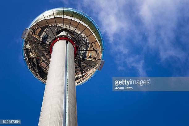 British Airways i360 Tower and blue sky, Brighton, UK