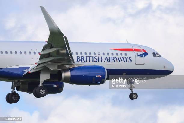 British Airways landing at Schiphol International Airport in The Netherlands British Airways has a fleet of 273 aircrafts and 69 in order among them...