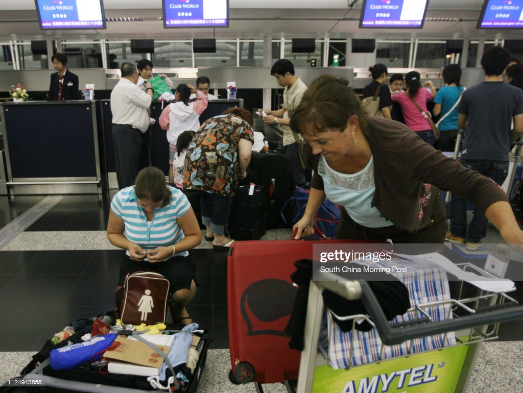 British Airways passengers have to repack their luggage at the