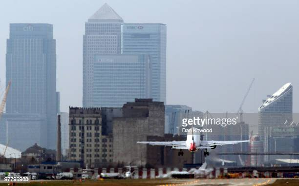 British Airways Plane takes off from London City Airport on March 17 2010 in London England Unite Union leaders are due to talk with with their...