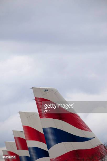 British Airways planes sit grounded at Heathrow airport at the start of a fourday strike by cabin crew on March 27 the second wave of action in a...