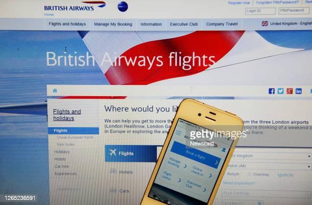 British Airways Website and Iphone.