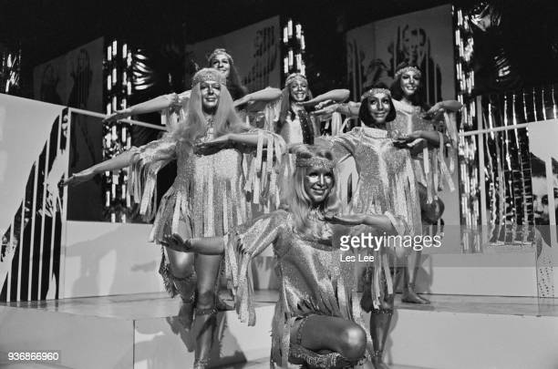 British allfemale dance troupe Pan's People Louise Clarke Barbara Babs Lord Dee Dee Wilde Andi Rutherford Flick Colby Ruth Pearson UK 19th December...