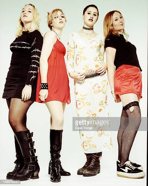 British allgirl punk group Tampasm London UK December 1996