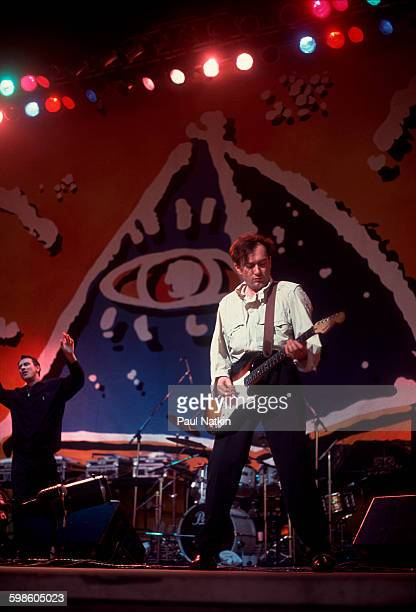 British alternative rock group Gang Of Four perform onstage at the Poplar Creek Music Theater Hoffman Estates Illinois July 12 1991 Pictured is...