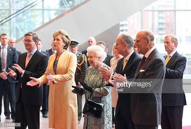 British Ambassador Julian King, President Mary McAleese, Queen Elizabeth II, Dr Martin McAleese, Prince Philip, Duke of Edinburgh and Taoiseach of...