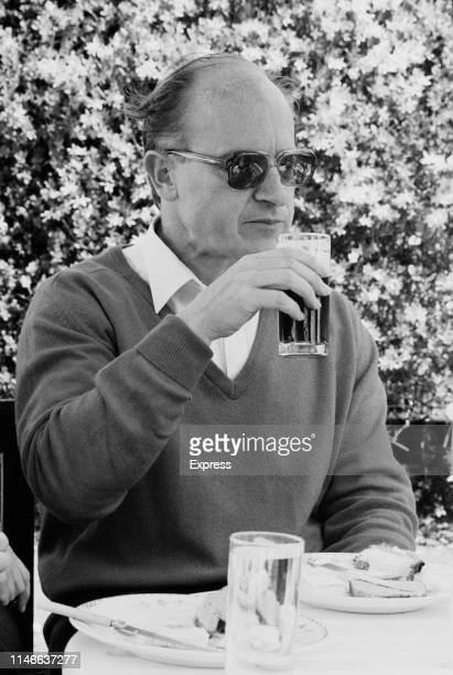 British ambassador Oliver Miles current HM Ambassador to Libya having lunch outdoors with his family 29th April 1984