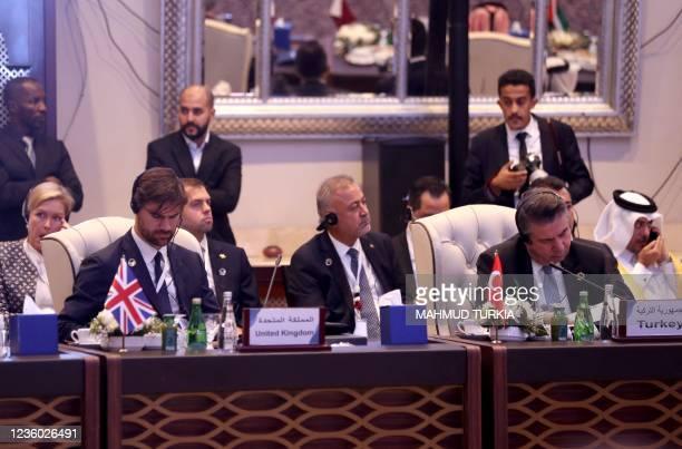British Ambassador to Libya Caroline Hurndall , Britain's diplomat at the Foreign Office Charles King , Turkey's Ambassador to Libya Kanan Yilmaz ,...