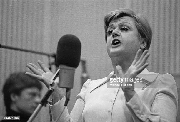 British American actress and singer Angela Lansbury recording songs from the musical 'Gypsy' 4th June 1973 Lansbury stars as Rose in the show's...