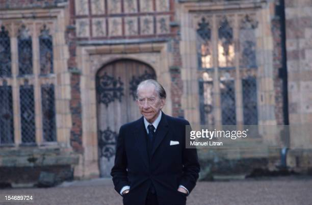 British American petrolindustrialist J Paul Getty at his Sutton Place mansion near Guildford Surrey January 1973