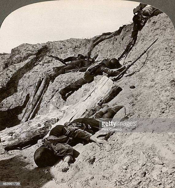 British and German dead near the Hohenzollern Redoubt Lens France World War I 19141918 The Hohenzollern Redoubt was a fortified position on the...