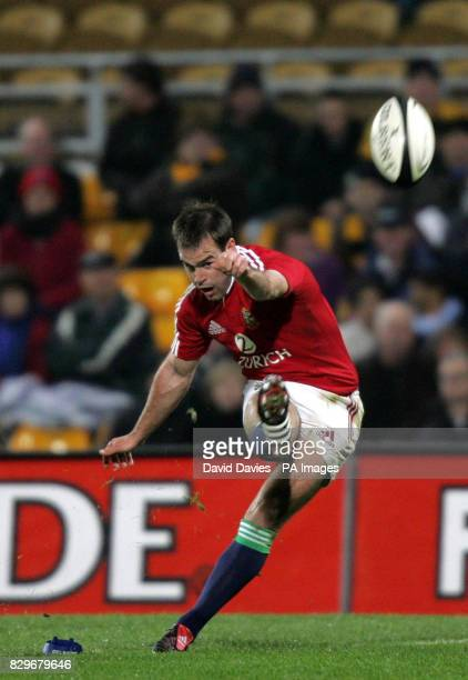 British and Irish Lions' Charlie Hodgson converts a first half penalty during the Lions 3614 victory
