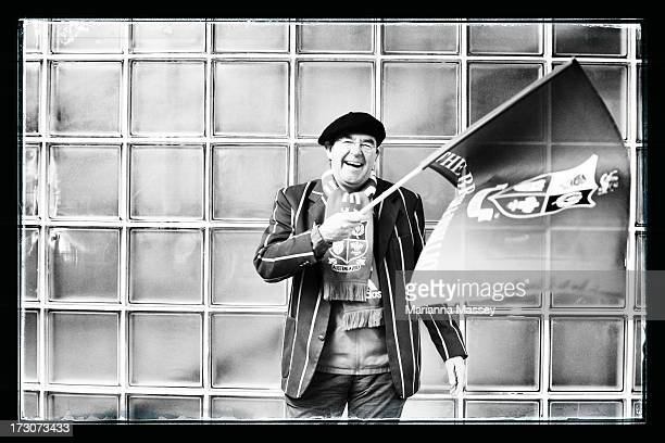 A British and Irish Lions fan poses for a portrait during the International Test match between the Australian Wallabies and the British Irish Lions...