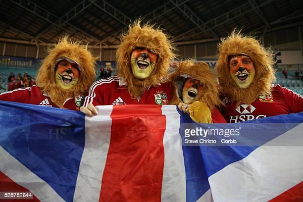 British and Irish Lions fans at Stadium Australia Sydney Australia Saturday 6th July 2013 Photo