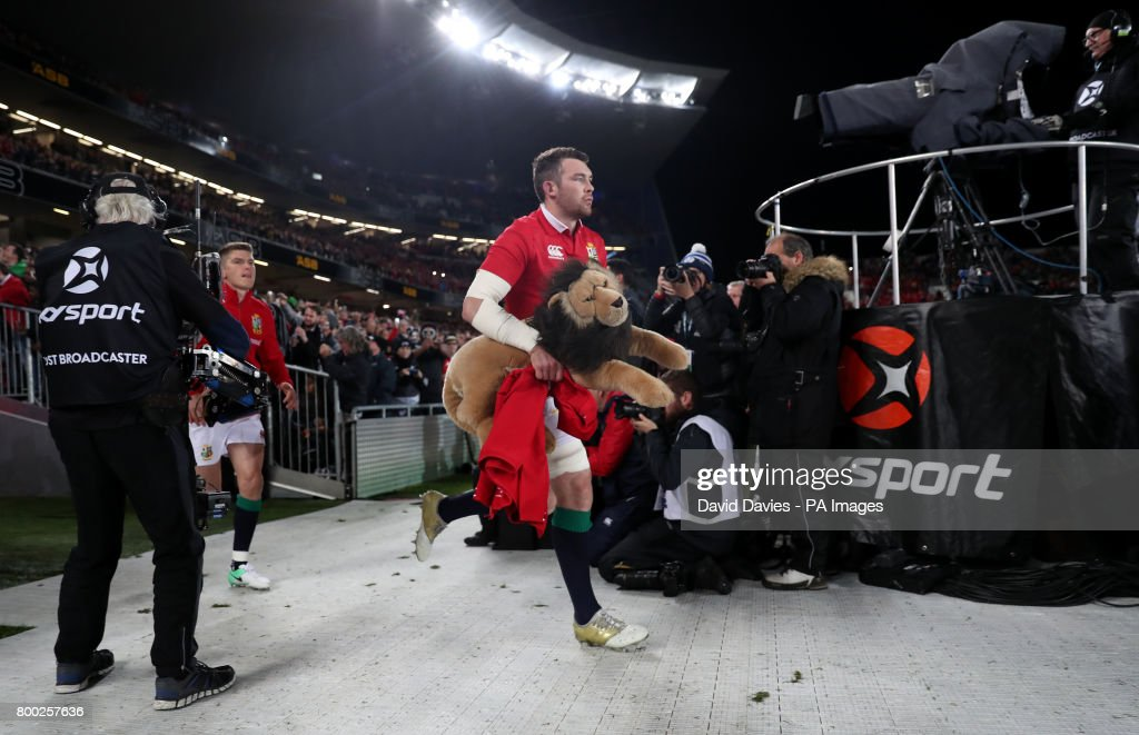 British And Irish Lions Peter OMahony Leads The Team Out Before First