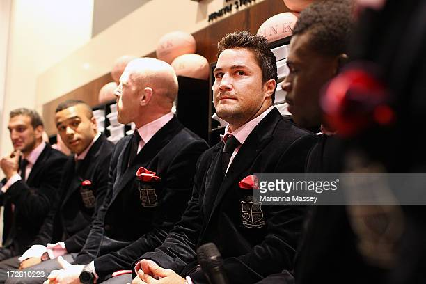 British and Irish Lions player Brad Barritt during the David Jones Thomas Pink Event on July 4 2013 in Sydney Australia
