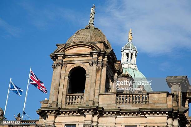 British and Scottish flags flying from the Bank of Scotland building on the Mound in Edinburgh On the 18th of September 2014 the people of Scotland...