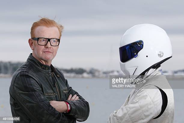 British animator Chris Evans poses during a photocall for TV show 'Top Gear' at the MIPCOM audiovisual trade fair in Cannes southeastern France on...