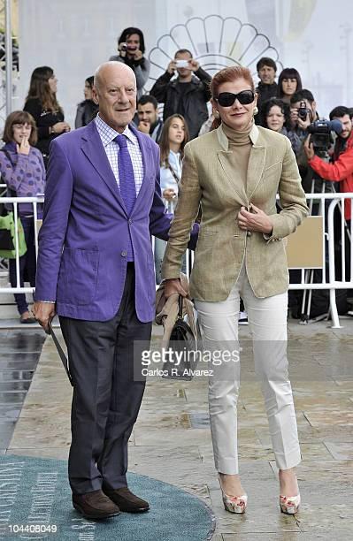 British architect Norman Foster and his wife Elena Ochoa arrive at the Maria Cristina Hotel during the 58th San Sebastian International Film Festival...