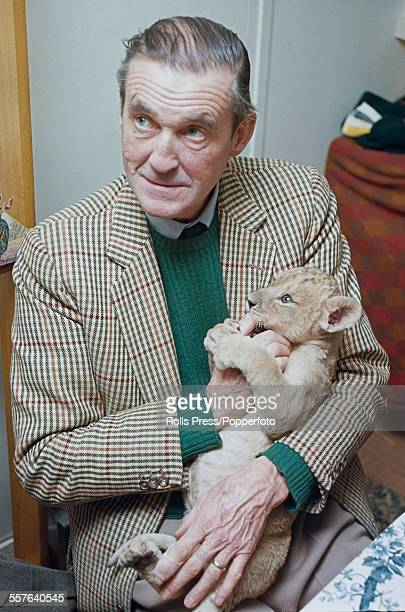 British aristocrat and politician Henry Thynne 6th Marquess of Bath pictured holding a lion cub at Longleat house in Wiltshire in 1967 Henry Thynne...
