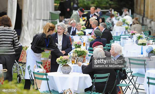 British Armed Forces Veterans during the 70th Anniversary commemorations of VJ Day at the Royal British Legion reception in the College Gardens...
