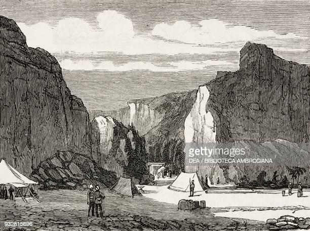 British army camp at Kubootranee Bugti Hills Pakistan illustration from the magazine The Graphic volume XVIII no 467 November 9 1878