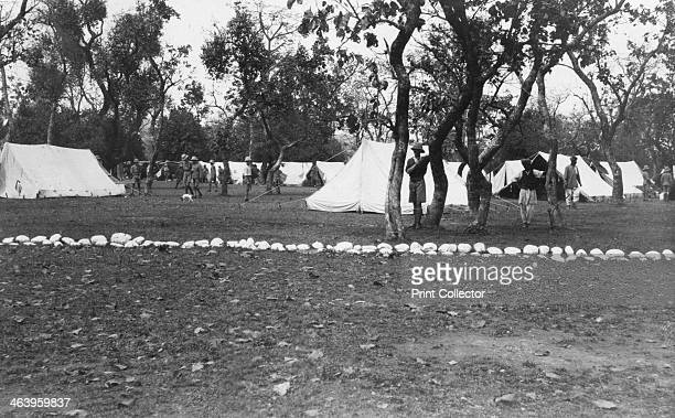 British army encampment by the Yamuna river India 1917