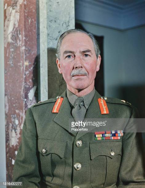British Army General Sir Alan Cunningham , High Commissioner of Palestine, posed in 1945.