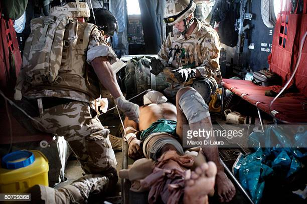 British Army Medical Emergency Response team Sgt Mark Mitchell British Army Anaesthetist Lt Col Ian Hicks and British Army Medical Emergency Response...