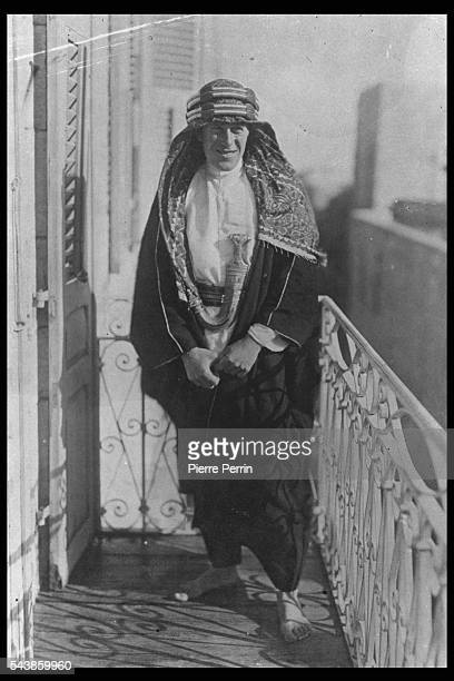 British Army officer Thomas Edward Lawrence aka Lawrence of Arabia renowned especially for his liaison role during the Sinai and Palestine Campaign...