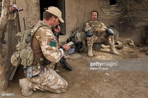 British Army soldier from the 3rd Battalion The Parachute Regiment Cpl Perran Berry 31 from Aukland New Zealand and OC A Company Major Matthew...