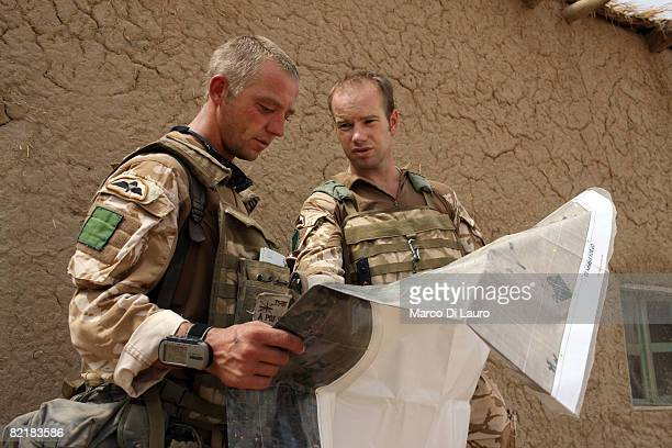 British Army soldier from the 3rd Battalion The Parachute Regiment Csm Steve Tidmarsh 36 from Halifax and his commander OC A Company Matthew Cansdale...