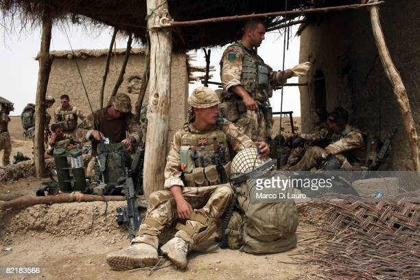 British Army soldiers from the 3rd Battalion The Parachute Regiment conduct strike operation Southern Beast on August 3 2008 in Maywand District in...