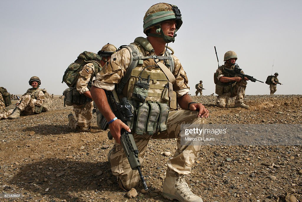 British Army soldiers from the 3rd Battalion The Parachute Regiment conduct strike operation Southern Beast on August 1, 2008 in Maywand District in Kandahar Province, Afghanistan. The British Army soldiers from the 3rd Battalion The Parachute Regiment spearheaded a strike operation in the Maywand District of the Kandahar Province, setting the conditions for a permanent ISAF presence to support the Afghan National Government in their fight against the Taliban. Striking within one of Afghanistan's major opium producing areas the Paratroopers were looking for weapons, drugs, and individuals related to the Taliban. During the operation about seventy kilograms of opium was seized and some weapons were recovered.