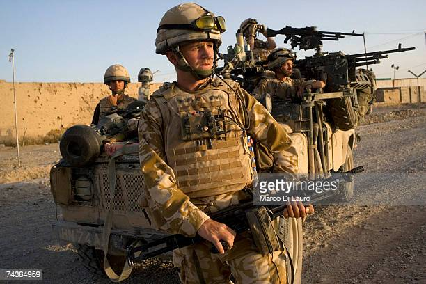 British Army soldiers of the Inkerman Company 1st Battalion Grenadier Guards Regiment are seen during during 'Lastay Kulang' Operation on May 29 2007...