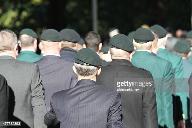 british army veterans - remembrance sunday stock photos and pictures