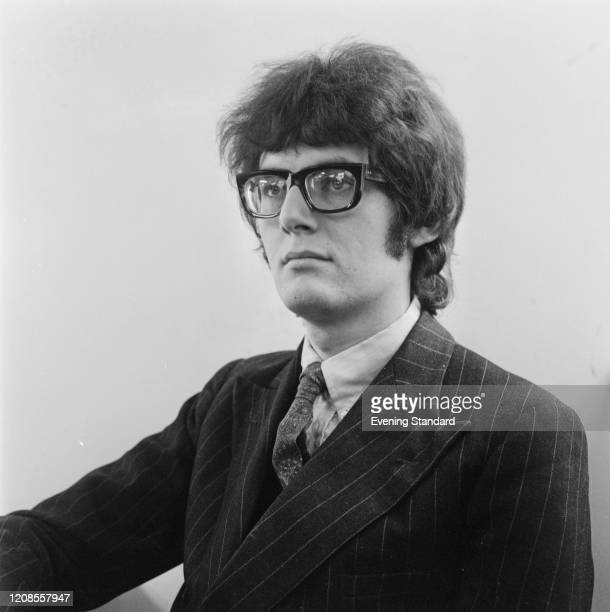 British art critic Richard Cork of the Evening Standard newspaper posed on 30th March 1971
