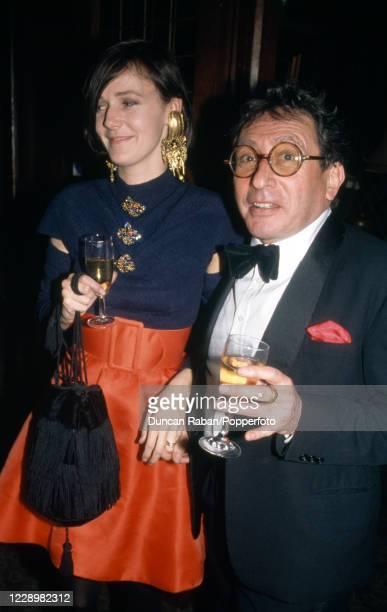 British art dealer John Kasmin attending an event in London, England, circa 1990.