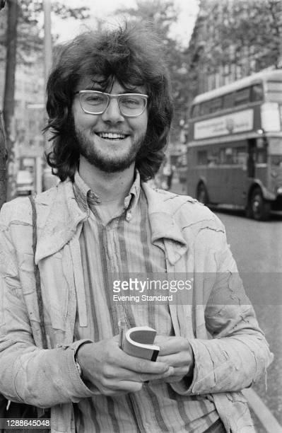 British art historian Richard Cork, the art critic for the Evening Standard, UK, 1971.
