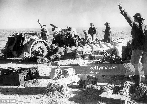 British Artillery pounding away at Tobruk just before the troops entered the town Febrauary 7th 1941