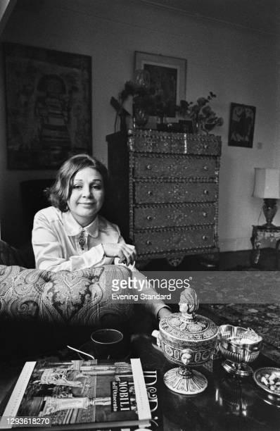 British artist and fashion designer Thea Porter , born Dorothea Noelle Naomi Porter, UK, 21st April 1966.
