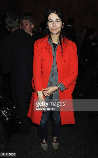 British artist Gillian Wearing attends the Turner Prize 2009 winner announcement at Tate Britain on December 7 2009 in London England
