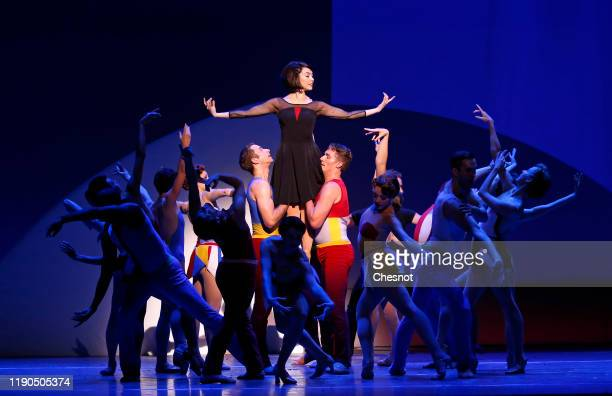 British artist Leanne Cope as Lise Dassin and performs during the musical comedy 'An American in Paris' at 'Theatre du Chatelet' on November 27, 2019...