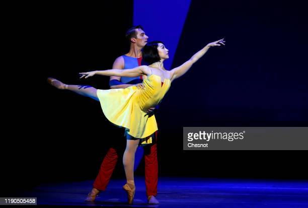 British artist Leanne Cope as Lise Dassin performs during the musical comedy 'An American in Paris' at 'Theatre du Chatelet' on November 27, 2019 in...