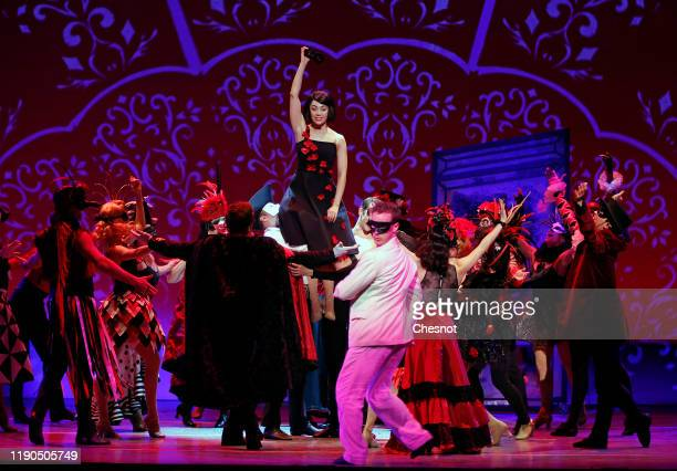 British artist Leanne Cope as Lise Dassin ©performs during the musical comedy 'An American in Paris' at 'Theatre du Chatelet' on November 27, 2019 in...