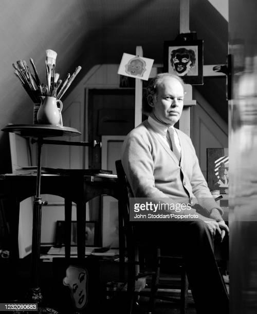 British artist Mark Lancaster, photographed on 17th December, 1987.